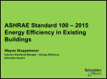 ASHRAE Energy Efficiency for Existing Buildings Standard 100