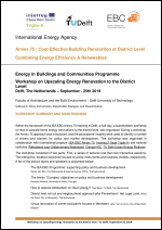 Workshop on upscaling energy renovation to the district level - Summary and Main Findings