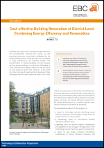Factsheet: Cost-effective Building Renovation at District Level Combining Energy Efficiency & Renewables